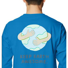 Mountain Hardwear Keep Earth Awesome Camiseta Manga Larga Hombre, blue horizon